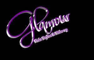 Glamour hair stylist logo